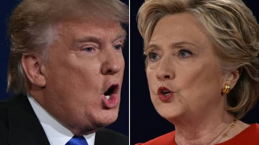 Republican nominee Donald Trump and Democratic nominee Hillary Clinton
