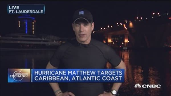 Hurricane Matthew targets the Bahamas