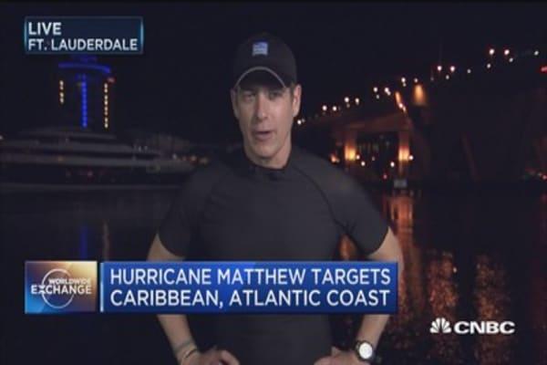 Hurricane Matthew targets the Bahamas
