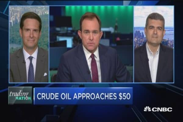 Trading Nation: Crude oil approaches $50