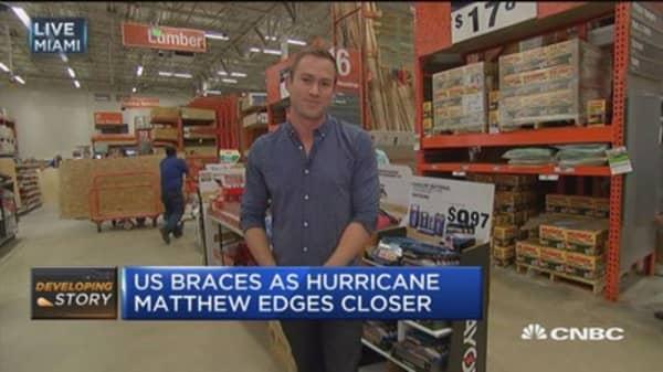 Florida, South Carolina prepare for Hurricane Matthew