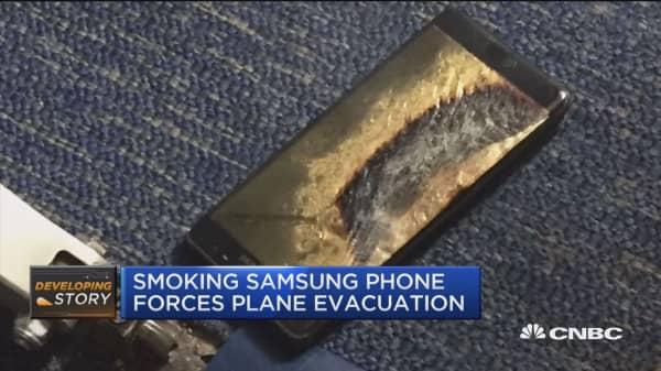 Smoking Samsung phone prompts Southwest evacuation