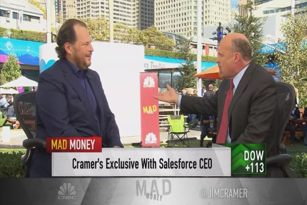 Salesforce CEO Benioff says Twitter has 'severe challenges', wishes Dorsey well