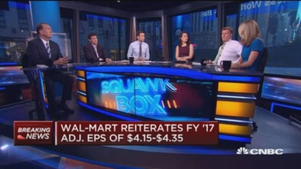 wal mart releases guidance ahead of investor meeting