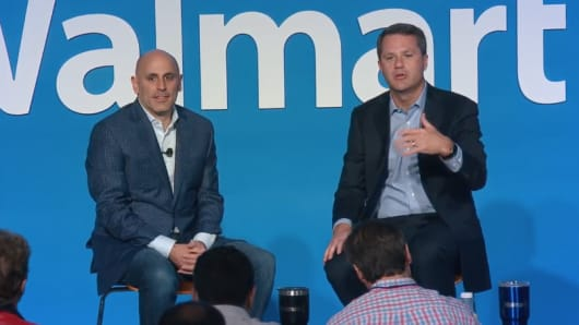 Marc Lore CEO of Jet.com and Doug McMillon CEO of Walmart