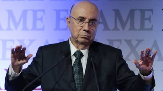Brazil's Finance Minister, Henrique Meirelles.