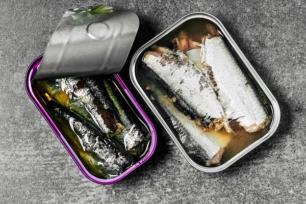 Cold-water oily fish such as sardines are an excellent source of omega-3 fatty acids.