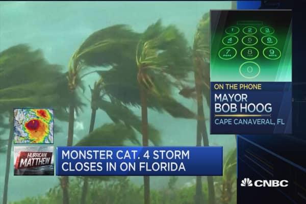 Cape Canaveral Mayor: I have evacuated