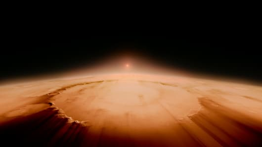 The sun strips away the Earth's atmosphere