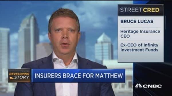 Insurers brace for Hurricane Matthew