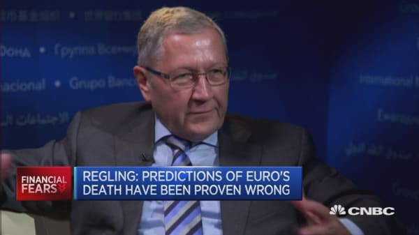 The euro is a success: Klaus Regling