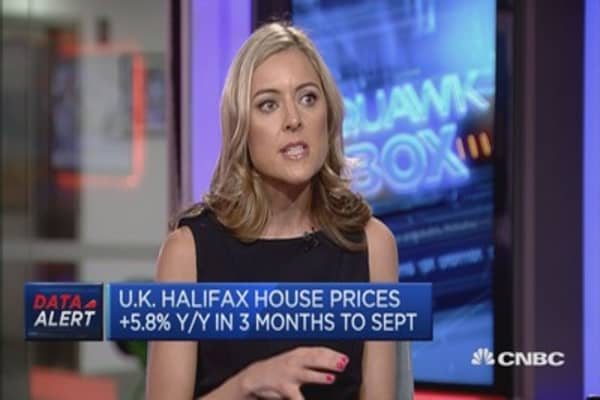 UK house price growth is decelerating