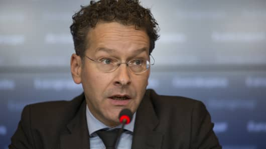 Jeroen Dijsselbloem, president of the Eurogroup.