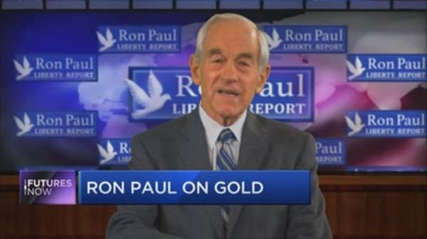 """Ron Paul: """"Believe me, gold prices go up"""""""