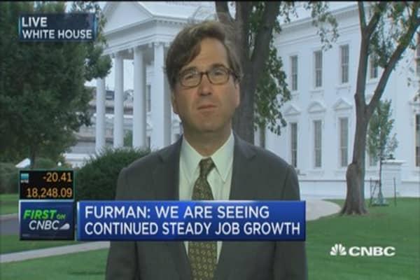 Furman: Pleased that job growth is broad based
