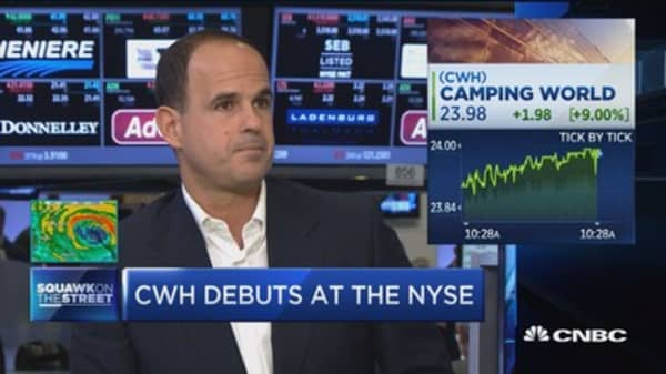 Camping World opens for trading