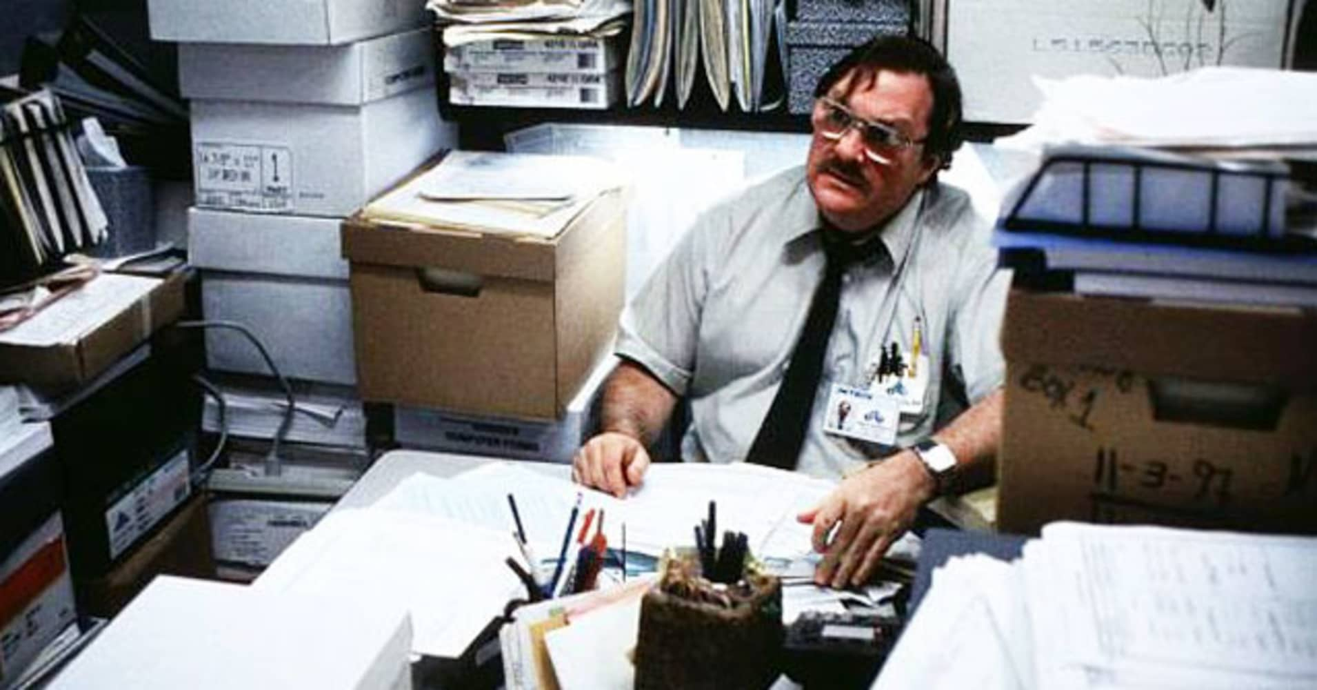 "A scene from the movie ""Office Space."""