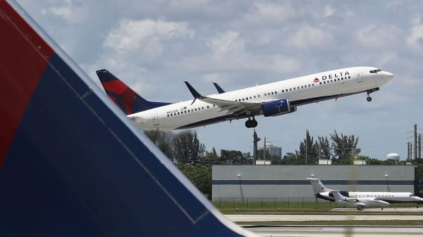 A file photo of a Delta airlines plane