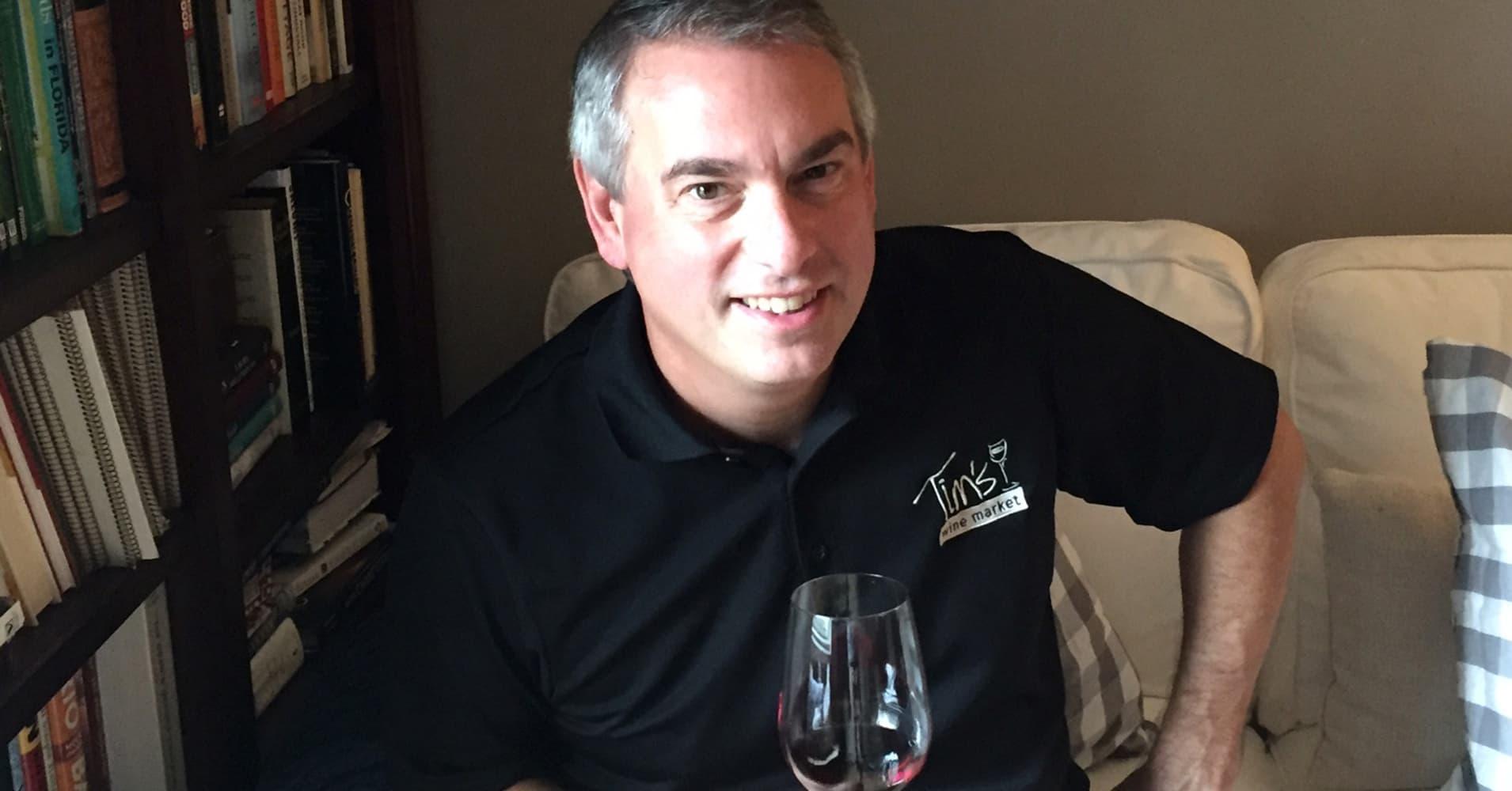Wine seller Tim Varan in Orlando, Florida has seen his sales spike in the wake of Hurricane Matthew.