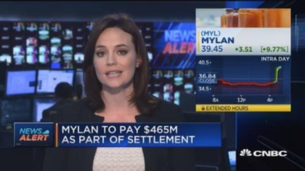 Mylan reaches settlement over EpiPen