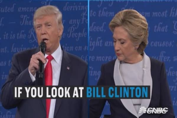 Clinton is the real threat to women, according to Donald Trump