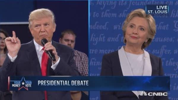 Trump: Clinton has tremendous hate in her heart