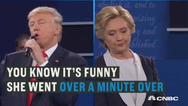 In second debate, Trump complains about interruptions