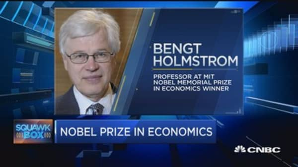 Nobel prize for real life economic: Bengt Holmstrom