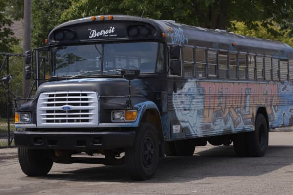 The Detroit Bus Company has a unique set of painted busses which were able to be tracked in real time before city busses could.