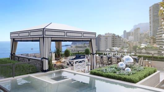 Theres a 5 story penthouse for sale in monaco and its yours for 335 million plus