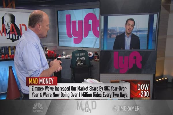 Lyft co-founder John Zimmer tells Cramer 'Lyft is not for sale'