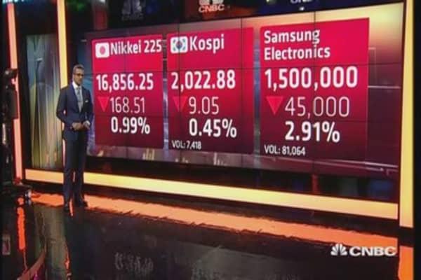 Asian markets open lower