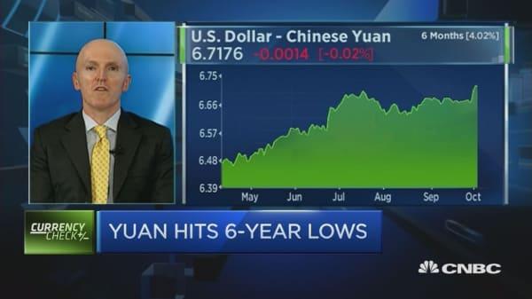Strong USD to fuel more yuan depreciation: Strategist