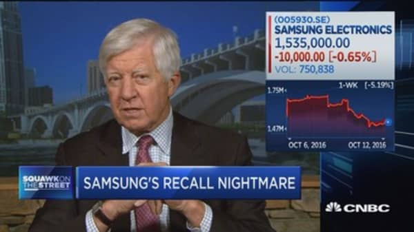Bill George: Samsung risking 'tremendous damage to a great brand'