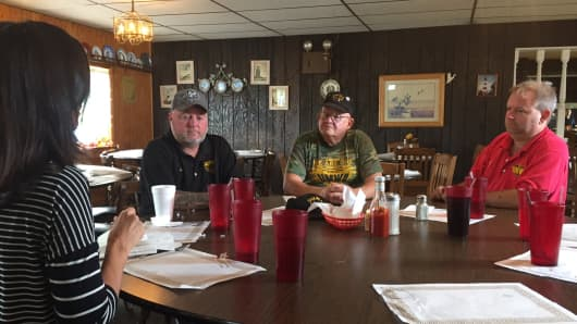 Laid-off coal workers have had to reinvent themselves to find new job opportunities.