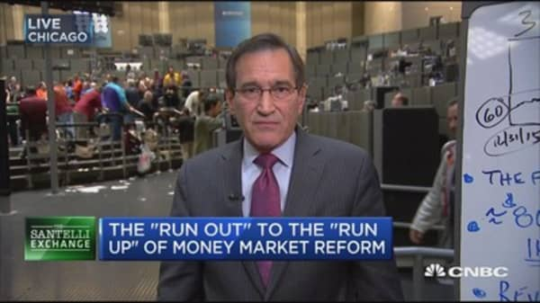 Santelli Exchange: The 'run out' to the 'run up' of money market reform