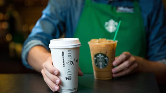 Starbucks shares down four% after quarterly outcomes