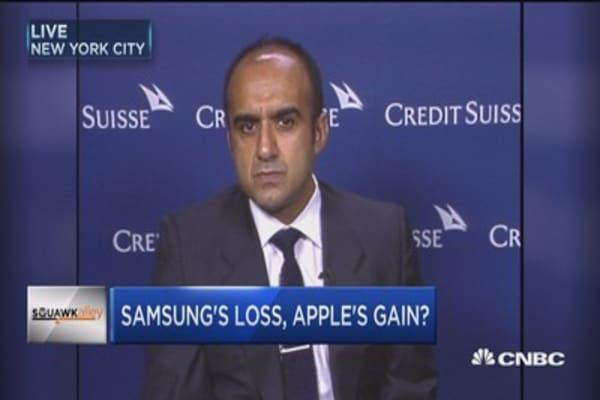 Samsung's pain; Apple's gain?
