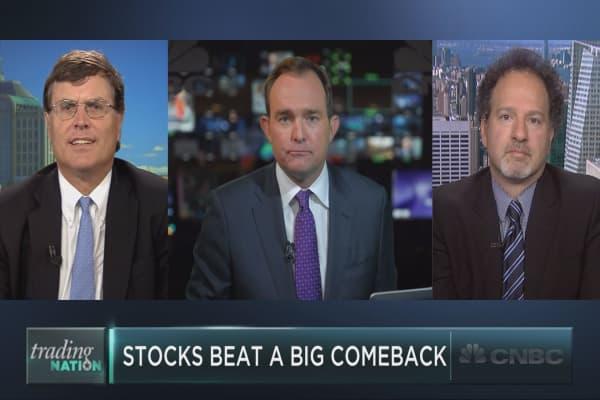 Stocks stage steep comeback