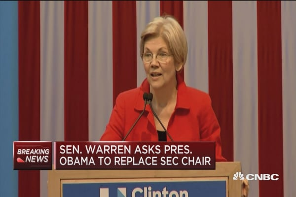 Sen. Warren wants SEC's White out