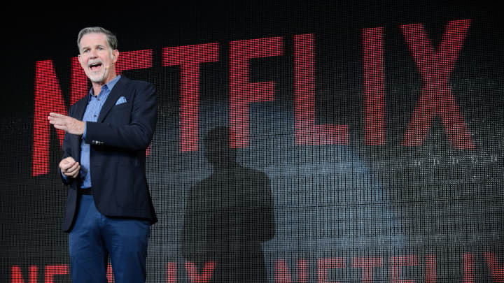Reed Hastings, chief executive officer of Netflix, speaks during a news conference in Tokyo on Monday, June 27, 2016.