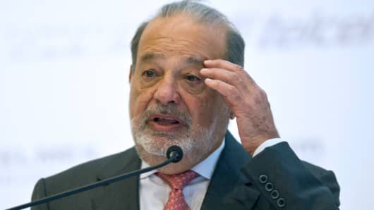 Mexican Tycon Carlos Slim.
