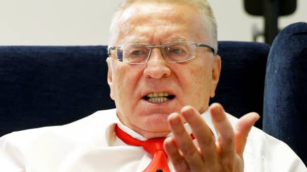 Vladimir Zhirinovsky, leader of the Liberal Democratic Party of Russia, speaks during an interview with Reuters in Moscow, Russia, October 11, 2016.