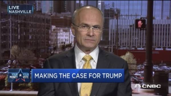 Business leaders for Trump: Puzder
