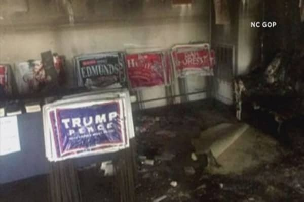 NC Republican party office firebombed