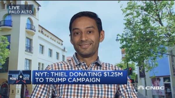 NYT's Manjoo: Thiel's donation 'an odd thing'