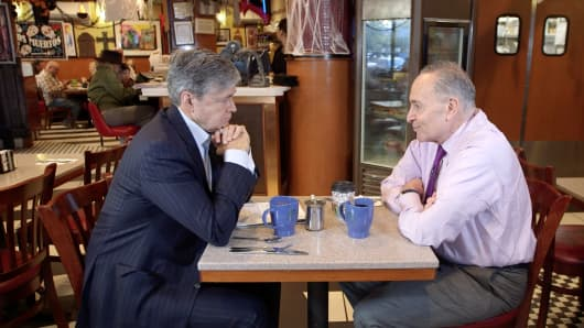 CNBC's John Harwood sits down with New York Senator Chuck Schumer at Gee Whiz Diner in NYC.