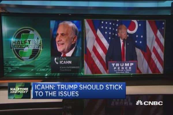Icahn: Trump should stick to the issues