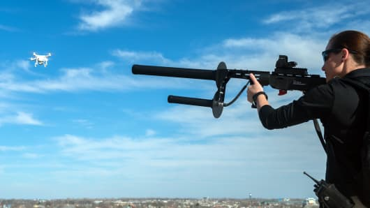 Battelle's DroneDefender, an anti-drone weapon that can bring down UAVs.