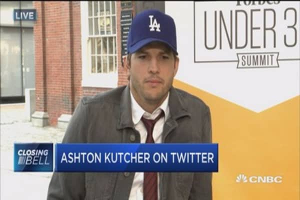 Ashton Kutcher: Twitter has turned into media platform